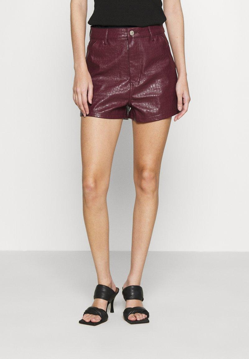 Missguided - CROC - Shorts - plum