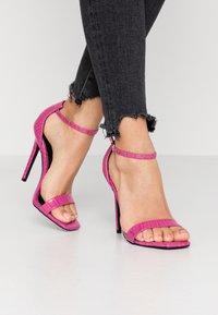 BEBO - ALARA - Sandaler med høye hæler - fuchsia - 0