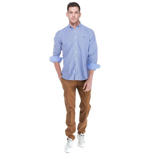Overhemd - blu fluo
