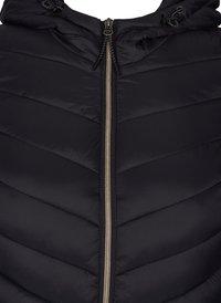 Zizzi - GESTEPPTE MIT KAPUZE UND TASCHEN - Light jacket - black - 2