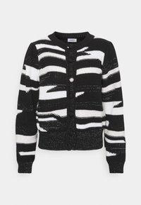Liu Jo Jeans - MAGLIA CHIUSA  - Cardigan - black/white - 5