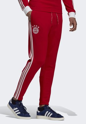 FC BAYERN ICONS TRACKSUIT BOTTOMS - Tracksuit bottoms - red