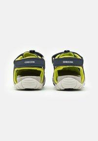 Geox - KRAZE - Walking sandals - navy/lime - 2