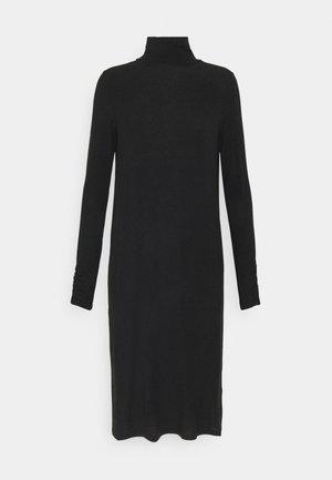 YASWOOLA HIGHNECK MIDI DRESS - Žerzejové šaty - black