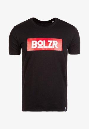 Print T-shirt - white/ red