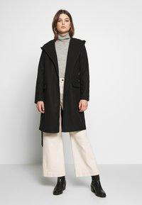 JDY - JDYOVIDA LONG HOOD JACKET - Short coat - black - 1