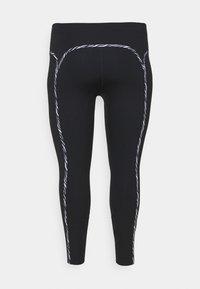 Nike Performance - ONE LUX - Leggings - black/purple chalk/clear - 1