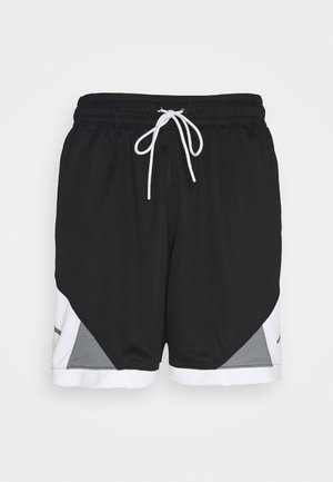 DRY AIR DIAMOND SHORT - Sportovní kraťasy - black/white/smoke grey