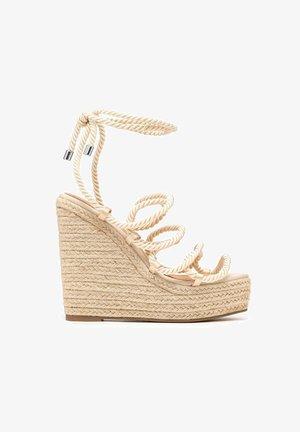 BELLS - High heeled sandals - beige