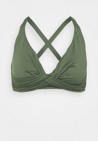 Seafolly - SEAFOLLY DOUBLE WRAP FRONT BRA - Bikini top - ivy - 3