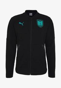 ÖSTERREICH ÖFB CASUALS JACKET - Training jacket - puma black/blue turquoise