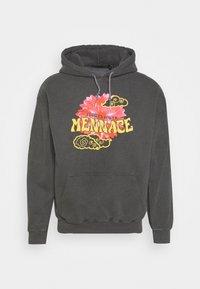 Mennace - SUNDAZE FLOWER CLOUD REGULAR HOODIE - Sweatshirt - dark grey - 0