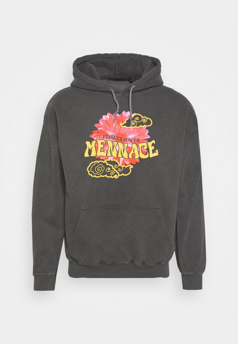 Mennace - SUNDAZE FLOWER CLOUD REGULAR HOODIE - Sweatshirt - dark grey