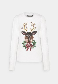 Fashion Union - CHRISTMAS REINDEER FACE - Jumper - white - 3
