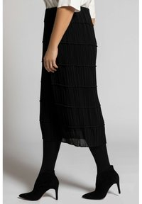 Ulla Popken - A-line skirt - black - 2