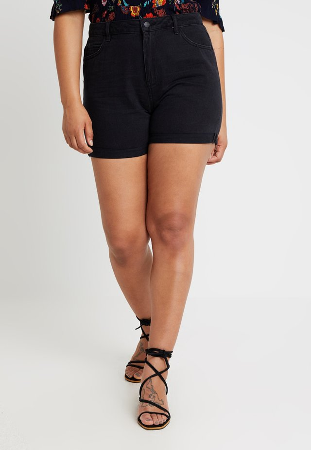 VMNINETEEN LOOSE MIX  - Shorts di jeans - black