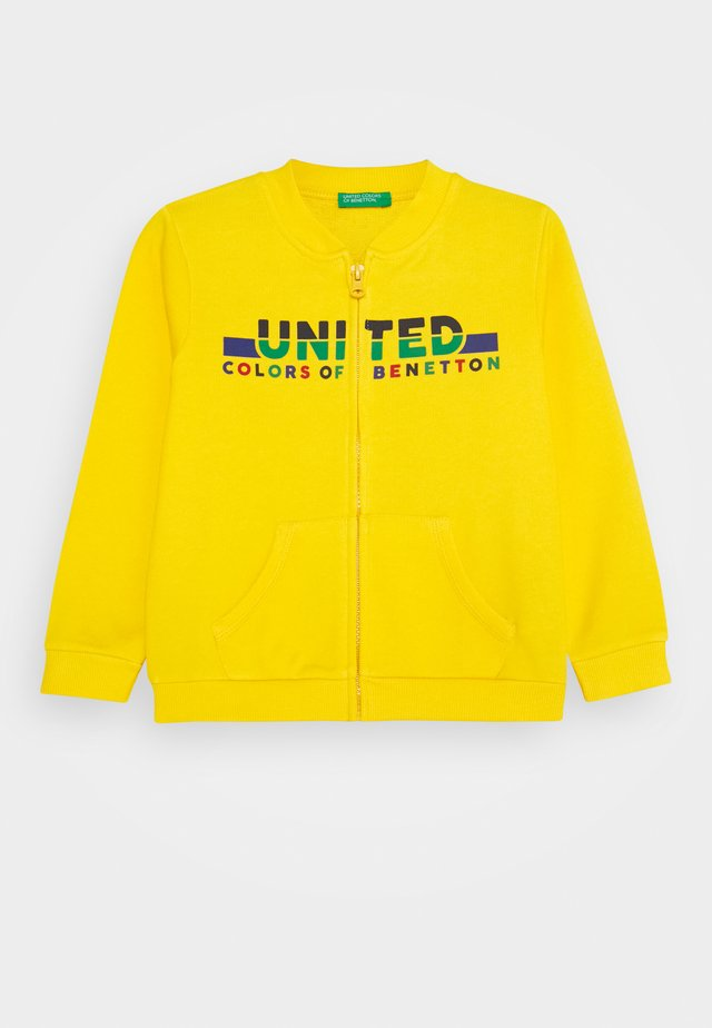Zip-up hoodie - yellow