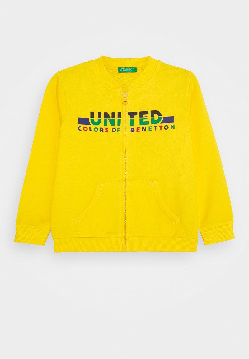 Benetton - Hoodie met rits - yellow