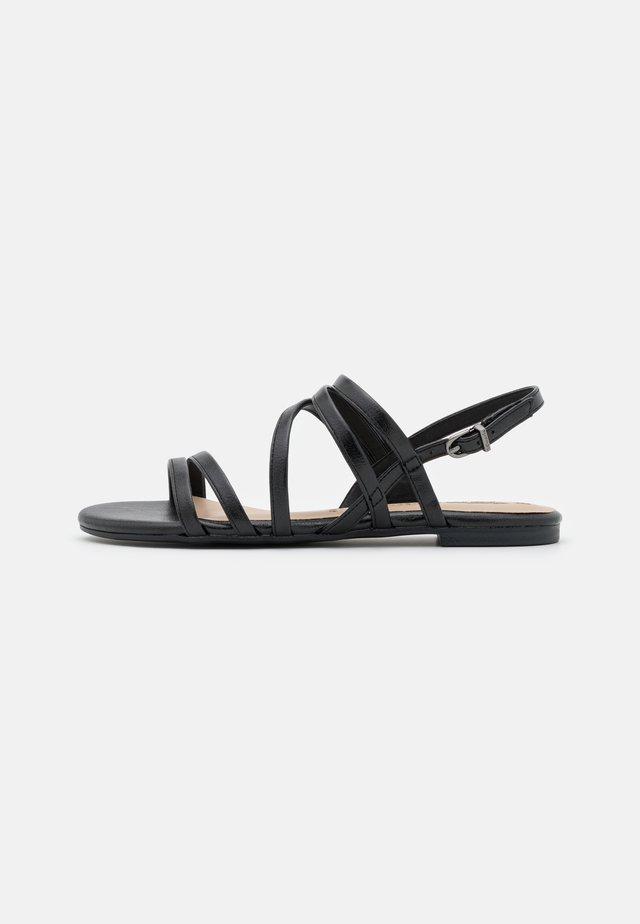 Sandály - black metallic