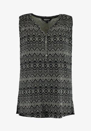 MOUWLOZE - Blouse - grey / black