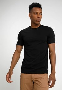 Benetton - Basic T-shirt - black - 0