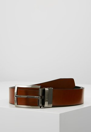 REGULAR - Belt business - cognac/schwarz