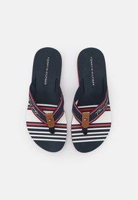 Tommy Hilfiger - SIGNATURE BEACH  - T-bar sandals - red/white/blue - 5