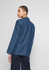 TOM TAILOR - Veste en jean - dark stone wash denim/blue - 2