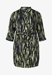 Zizzi - WITH WAIST TIE - Button-down blouse - green - 3