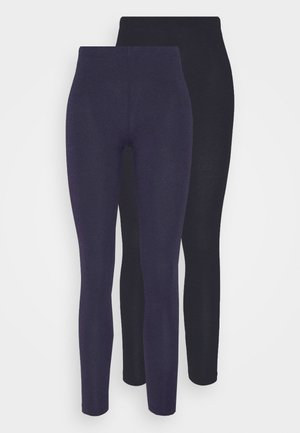 2 PACK - Leggings - Trousers - black/dark blue