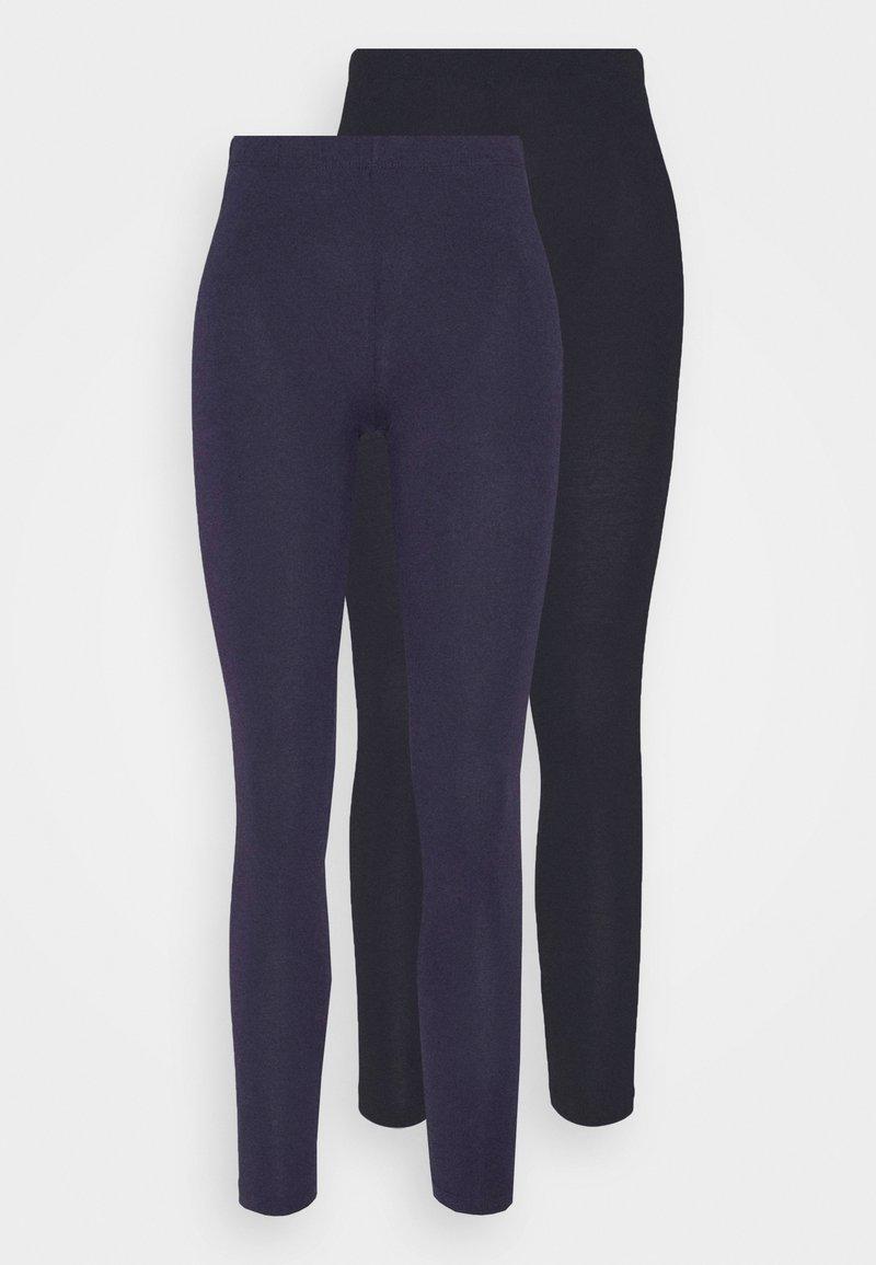 Anna Field - 2 PACK - Leggings - black/dark blue