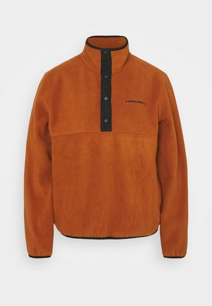 Fleecepullover - cinnamon/black