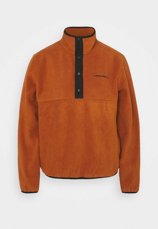 Fleece jumper - cinnamon/black