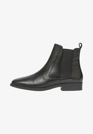 MIT FERSENDETAIL CHELMSFORD - Korte laarzen - schwarz kroko