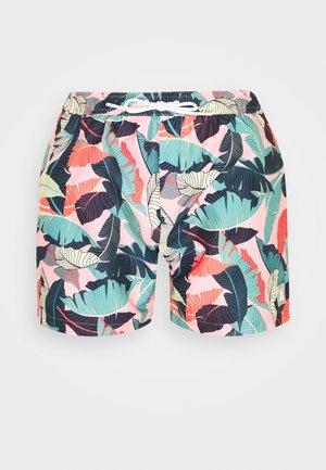 PALM PRINT - Swimming shorts - pink