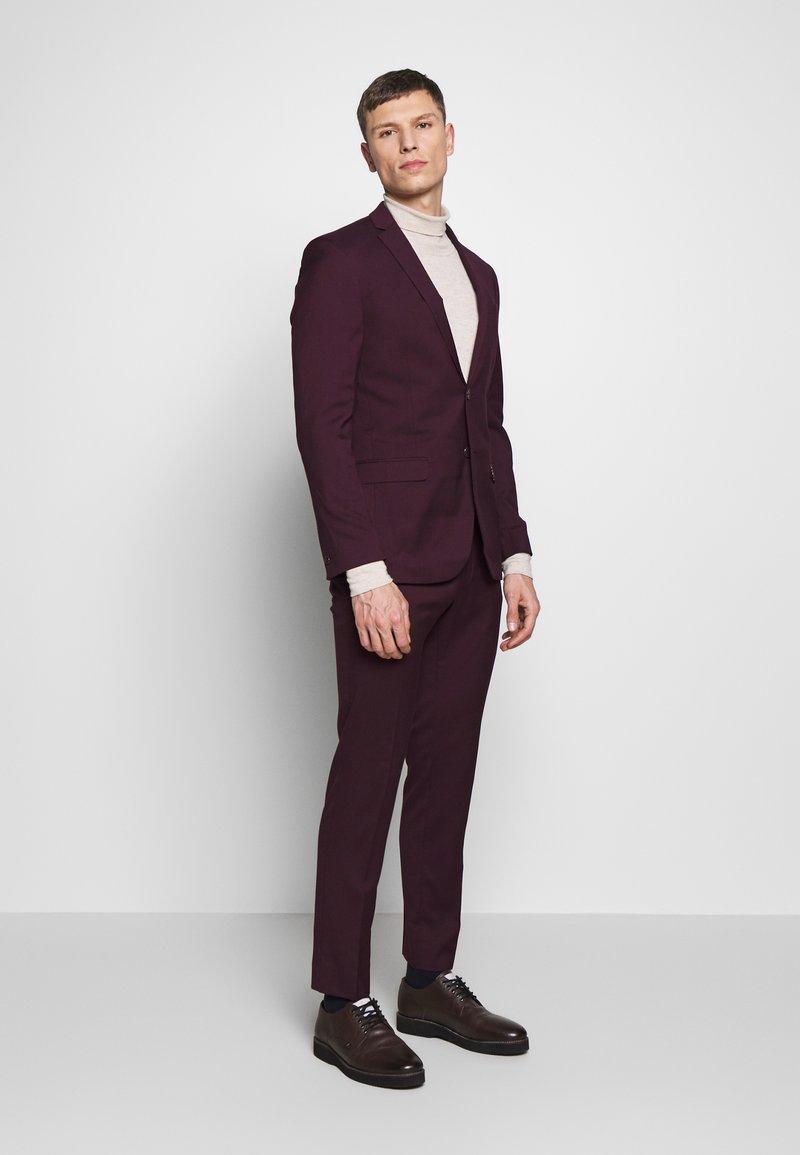 Limehaus - SUIT SLIM FIT - Kostym - bordeaux
