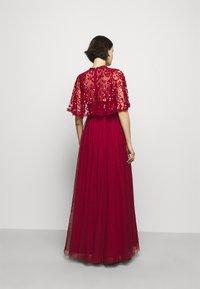 Needle & Thread - SEQUIN RIBBON BODICE MAXI DRESS - Společenské šaty - deep red - 2