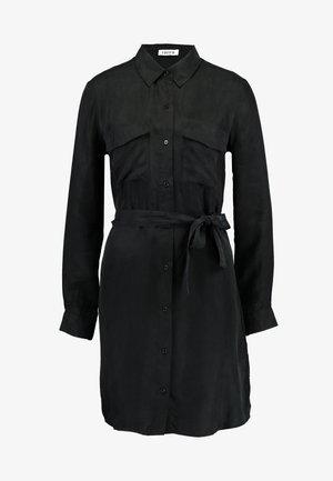 FARHA DRESS - Shirt dress - black