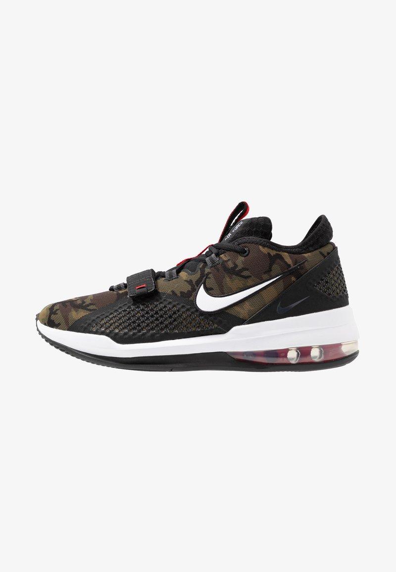 Nike Performance - AIR FORCE MAX LOW - Indoorskor - black/white/university red