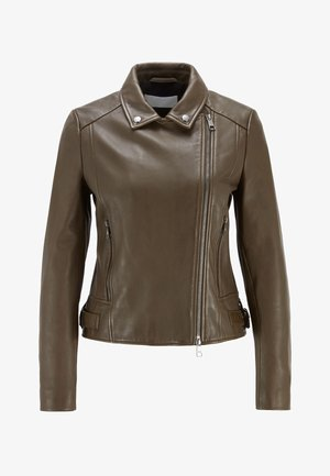 SAJUANA - Leather jacket - open green