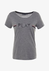 ONLY Play - ONPJANICE REGULAR TEE - T-shirts med print - medium grey melange - 4