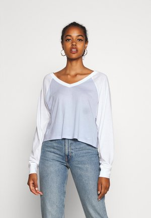 SPORTY BASEBALL - Long sleeved top - gray/blue