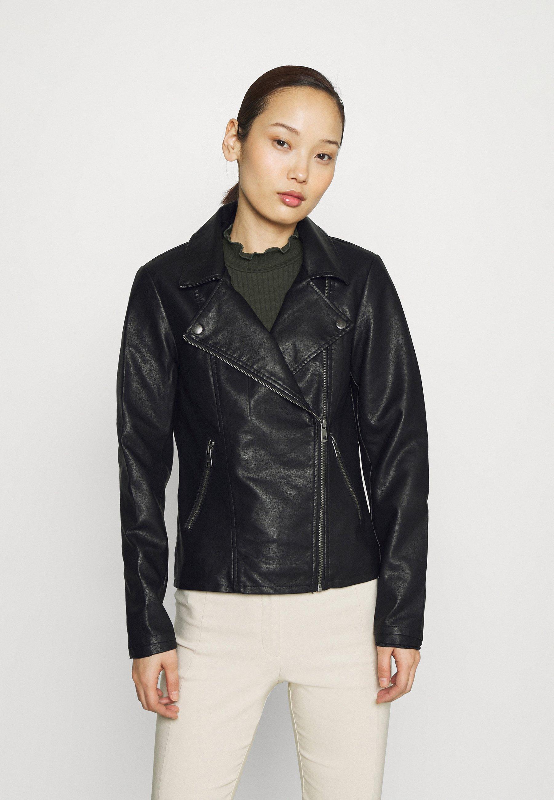 Women ONLMELISA BIKER - Faux leather jacket