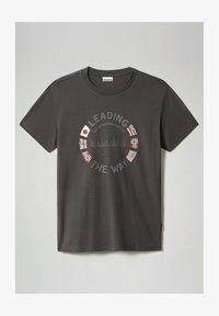 Napapijri - SALYA - Print T-shirt - dark grey solid - 4