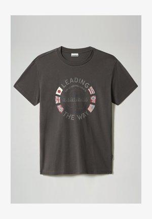 SALYA - T-shirt med print - dark grey solid