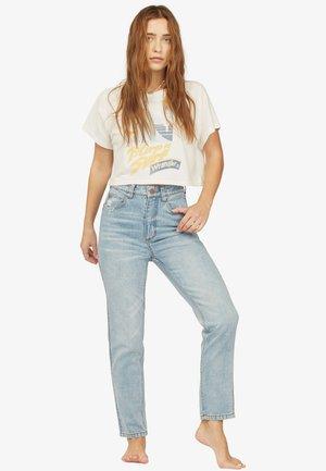 SHE'S CHEEKY  MIT HOHEM BUND  - Slim fit jeans - blue surf