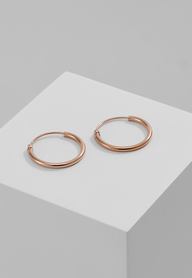 DIA HOOP - Earrings - rosegold-coloured