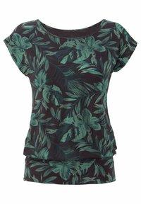 LASCANA - Pyjama top - schwarz-grün - 0