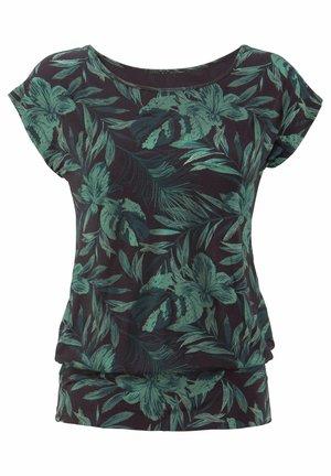 Pyjama top - schwarz-grün