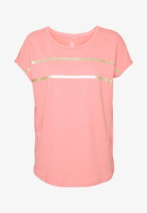 ONPFELICE LOOSE TRAINING TEE - Print T-shirt - strawberry pink/white gold